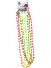 1980's Neon Pearls Necklace Set